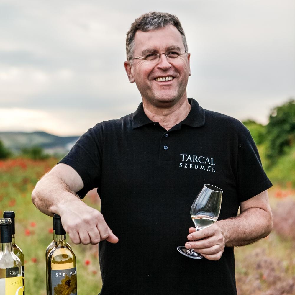 Sándor Szedmák winemaker, owner of the Szedmák Winehouse.